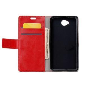 Fold peňaženkové puzdro na Microsofst Lumia 650 - červené - 3