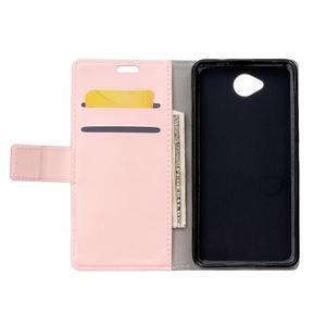 Fold peňaženkové puzdro na Microsofst Lumia 650 - ružové - 3