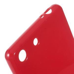Lesklý gélový obal pre mobil Sony Xperia M5 - červený - 3