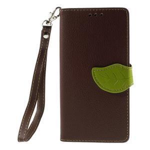 Blade peněženkové pouzdro na Sony Xperia M5 - hnědé - 3