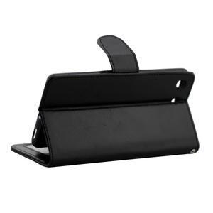 Horse PU kožené puzdro pre Sony Xperia M5 - čierne - 3