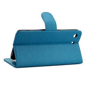 Horse PU kožené pouzdro na Sony Xperia M5 - modré - 3