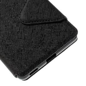 Diary puzdro s okienkom na Sony Xperia M5 - čierne - 3