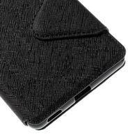 Diary puzdro s okienkom na Sony Xperia M5 - čierne - 3/7