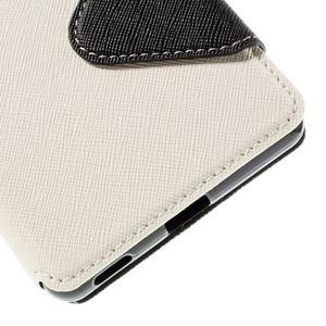 Diary puzdro s okienkom na Sony Xperia M5 - biele - 3