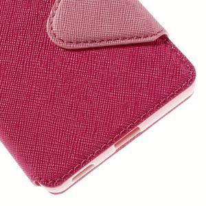 Diary puzdro s okienkom na Sony Xperia M5 - rose - 3