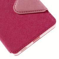 Diary puzdro s okienkom na Sony Xperia M5 - rose - 3/7