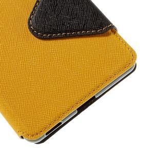 Diary puzdro s okienkom na Sony Xperia M5 - žlté - 3