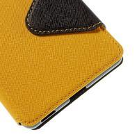 Diary puzdro s okienkom na Sony Xperia M5 - žlté - 3/7