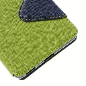 Diary pouzdro s okýnkem na Sony Xperia M5 - zelené - 3