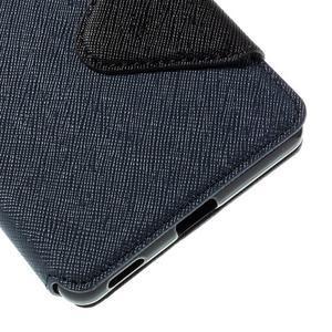 Diary pouzdro s okýnkem na Sony Xperia M5 - tmavěmodré - 3
