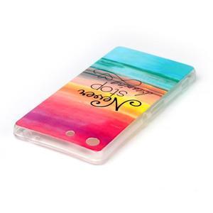 Style gélový obal pre Sony Xperia M5 - neprestávaj snívať - 3