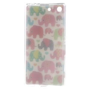 Gélový obal pre mobil Sony Xperia M5 - slony - 3