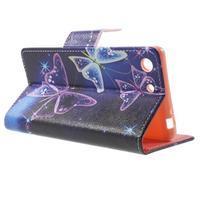 Stand peněženkové pouzdro na Sony Xperia M5 - magičtí motýlci - 3/7