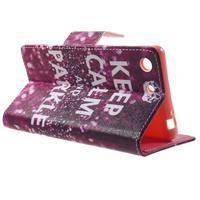 Stand Peňaženkové puzdro pre Sony Xperia M5 - Keep Calm - 3/7
