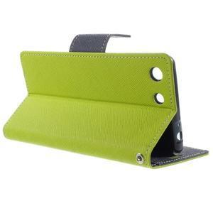 Goos PU kožené peňaženkové puzdro pre Sony Xperia M5 - zelené - 3