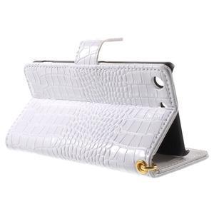 Croco Peňaženkové puzdro pre mobil Sony Xperia M5 - biele - 3