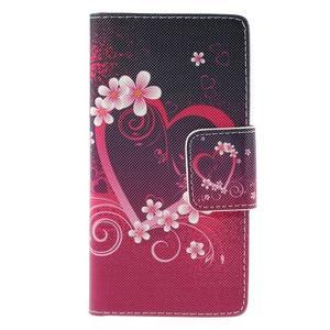 Crafty Peňaženkové puzdro pre Sony Xperia M5 - srdce - 3
