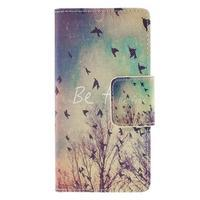 Crafty Peňaženkové puzdro pre Sony Xperia M5 - vtáčiky - 3/7