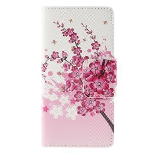 Crafty peněženkové pouzdro na Sony Xperia M5 - kvetoucí větvička - 3