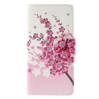 Crafty peněženkové pouzdro na Sony Xperia M5 - kvetoucí větvička - 3/7