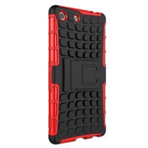 Outdoor odolný kryt pre mobil Sony Xperia M5 - červený - 3