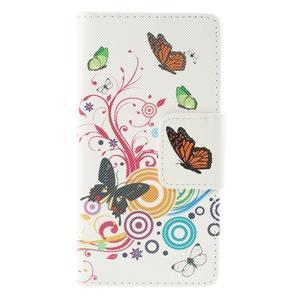 Crafty Peňaženkové puzdro pre Sony Xperia M5 - motýľe - 3