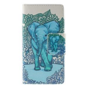 Crafty Peňaženkové puzdro pre Sony Xperia M5 - modrý slon - 3