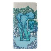 Crafty Peňaženkové puzdro pre Sony Xperia M5 - modrý slon - 3/7