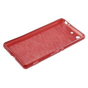 Brush gélový obal pre Sony Xperia M5 - červený - 3