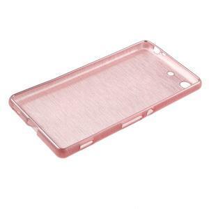 Brush gelový obal pro Sony Xperia M5 - růžový - 3