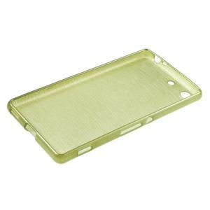 Brush gélový obal pre Sony Xperia M5 - zelený - 3