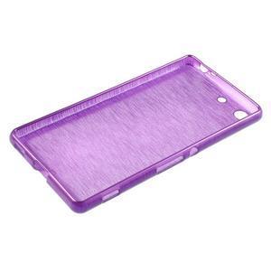 Brush gélový obal pre Sony Xperia M5 - fialový - 3