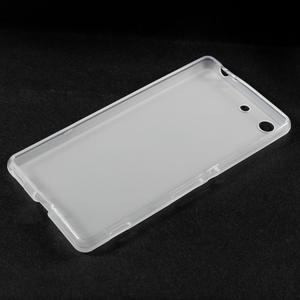Matný gélový kryt pre Sony Xperia M5 - transparentné - 3