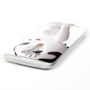 Softy gélový obal pre mobil Asus Zenfone 2 Laser - mačička - 3