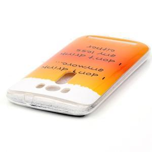 Softy gelový obal na mobil Asus Zenfone 2 Laser - drink - 3