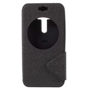 Peňaženkové puzdro s okienkom pre Asus Zenfone Selfie ZD551KL - čierné - 3