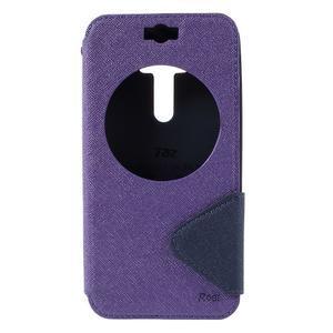 Peňaženkové puzdro s okýnkem na Asus Zenfone Selfie ZD551KL - fialové - 3