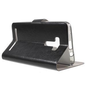 Horse peňaženkové puzdro pre Asus Zenfone Selfie ZD551KL - čierné - 3