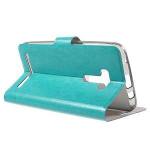 Horse peňaženkové puzdro na Asus Zenfone Selfie ZD551KL - modré - 3