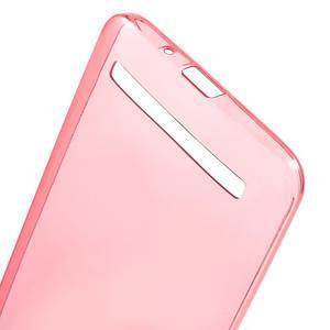 Ultratenký slim obal 0.6 mm pre Asus Zenfone Selfie - červený - 3