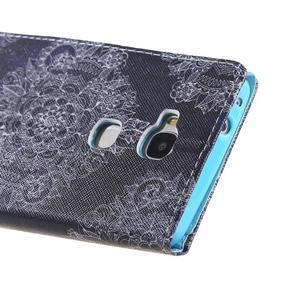 Knížkové puzdro pre mobil Honor 5X - retro krajka - 3