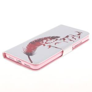 Peňaženkové puzdro pro mobil Honor 5X - vtačie pierko - 3