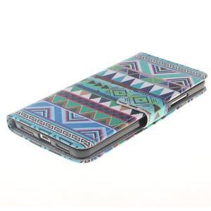 Peňaženkové puzdro pro mobil Honor 5X - geo tvary - 3