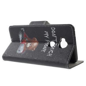 Emotive PU kožené pouzdro na mobil Honor 5X - nedotýkat se - 3