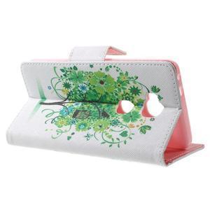 Emotive PU kožené pouzdro na mobil Honor 5X - zelený strom - 3