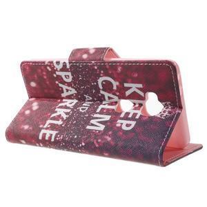 Emotive PU kožené pouzdro na mobil Honor 5X - Keep Calm - 3