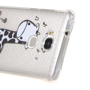 Transparentný gélový obal pre Honor 5X - žirafka - 3