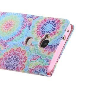 Knížkové puzdro pre mobil Honor 5X - farebná mandala - 3