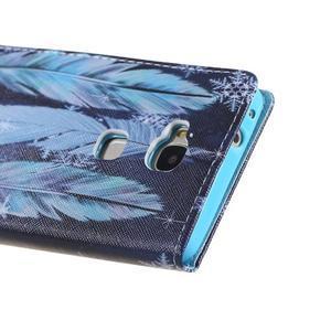 Knížkové puzdro pre mobil Honor 5X - pierka - 3